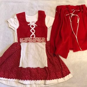 Little Red Riding Hood Dirndl Halloween 6-12m